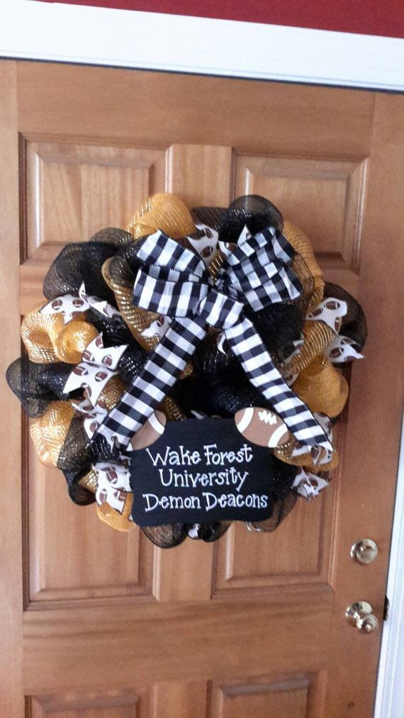 Check out this item in my Etsy shop https://www.etsy.com/listing/215726106/wake-forest-university-wreath