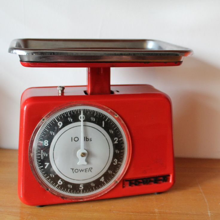 Tower Kitchen weighing scales, red, mid century, vintage kitchen, retro kitchen by 20thCenturyParade on Etsy