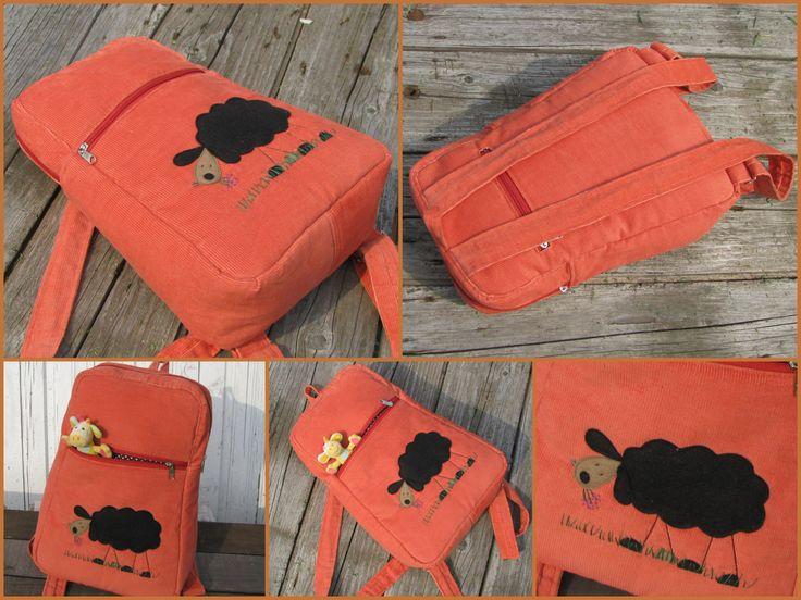Sheep in your backpack from patonaifabian design