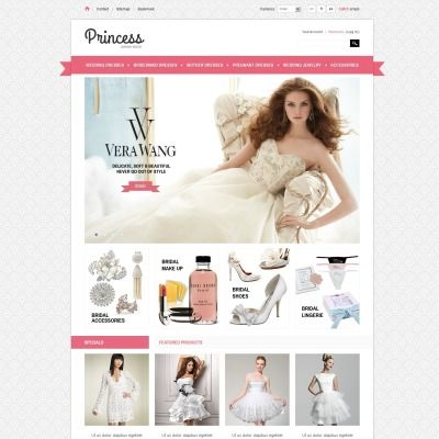 PrestaShop Theme for Bridal Gowns