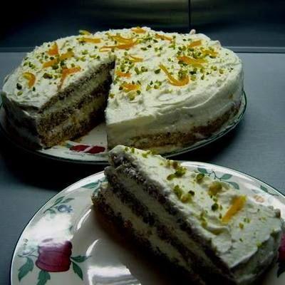 Diós-narancsos-mascarponés torta