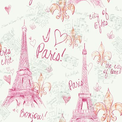 90 best girls wallpaper images on pinterest paintable wallpaper papermywalls york inspired by color kids i love paris girls wallpaper pw3910 voltagebd Image collections