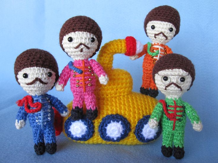 Crochet Beatles - great inspiration.I will learn how to crochet because of this.
