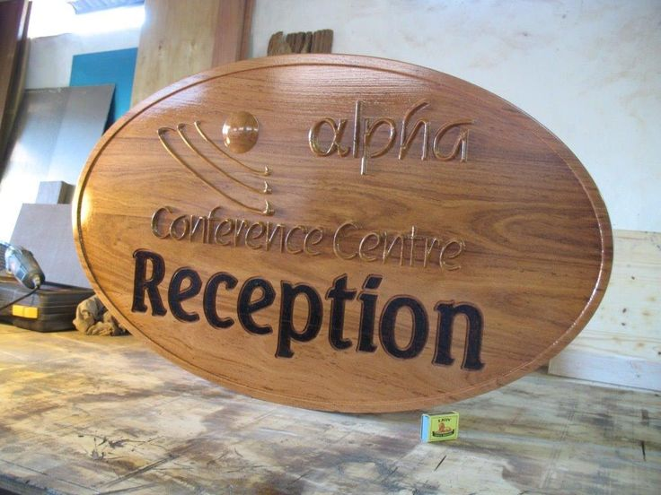 Reception Sign for Alpha Conference Centre