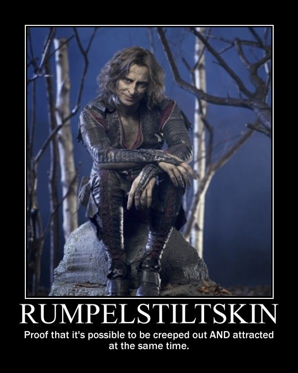 """For real.  Especially in the episode """"Skin Deep,"""" which is my favorite episode thus far.  I adore this show, and Rumpelstiltskin was cast very well!  :)  He's my favorite!"""