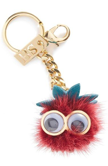 Sophie Hulme 'Barry Strawberry' Genuine Mink Fur Bag Charm available at #Nordstrom