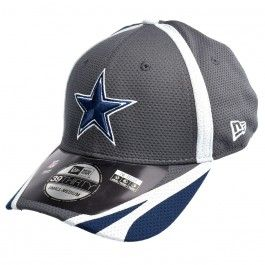 Dallas Cowboys NFL Training Graphite 39Thirty Stretch Hat (Charcoal)