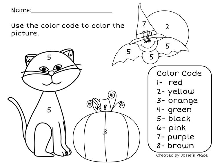 ENJOY THIS FREEBIE Color by Number!!!  Just one of the activities from Octoberfest for kids! Pre K- 1st