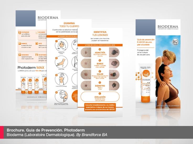 Brochure. Guía de Prevención Melanomas. Photoderm. Laboratoire Dermatologique Bioderma. By Brandforce