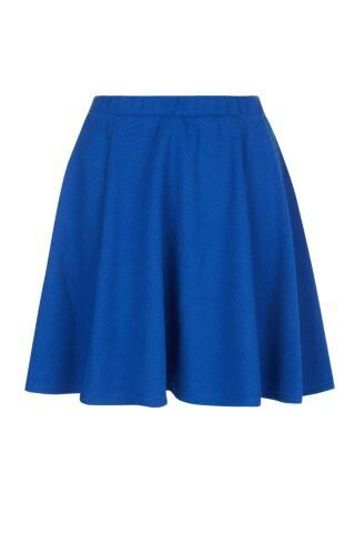 Blue skater skirt-new look