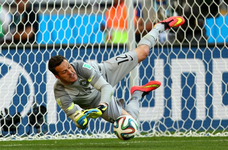 Brazil goalkeeper Julio Cesar.
