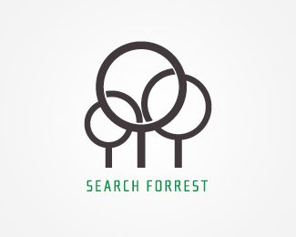 Just like it's name, reading glasses that represent 'search', and three of them look like trees for the 'forrest' part.