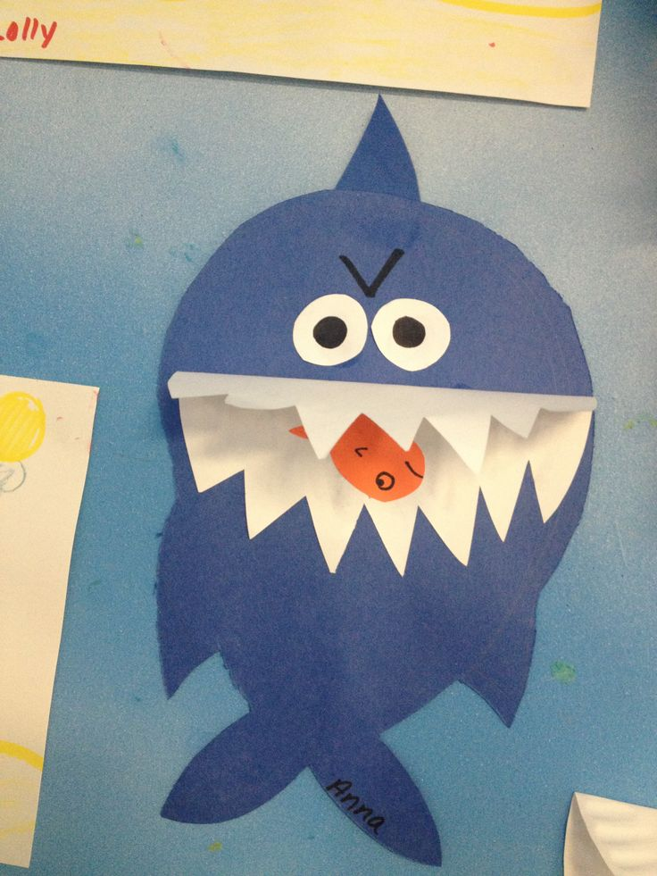 Kids Summer Craft Shark Craft Kid Craft Ideas