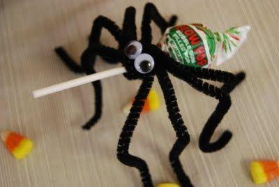 Spider lollipop - 15 Cute Halloween Food Ideas