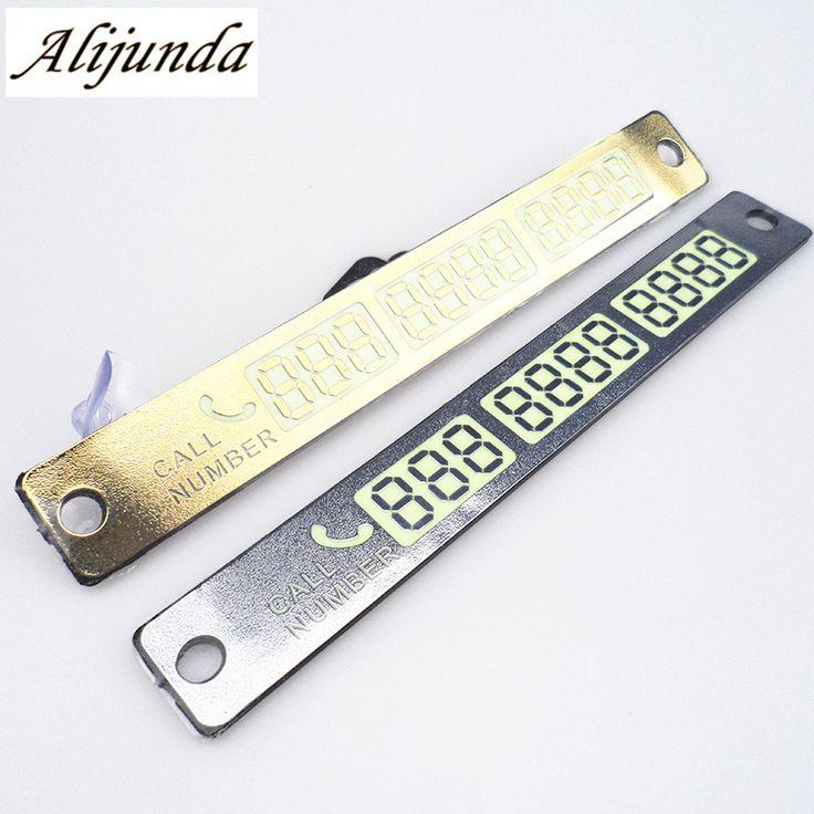 Temporary Parking Card Luminous Phone Number Card Plate