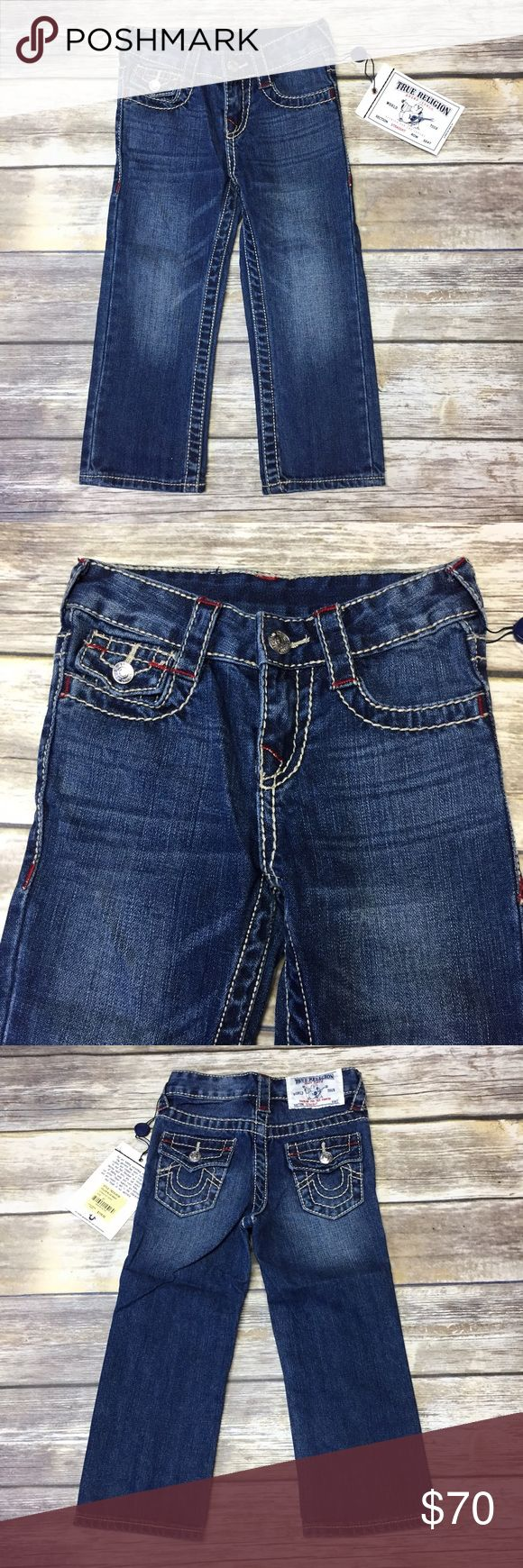 NET True Religion Jeans Boys new with tags True Religion blue wash straight leg jeans. True Religion Bottoms Jeans