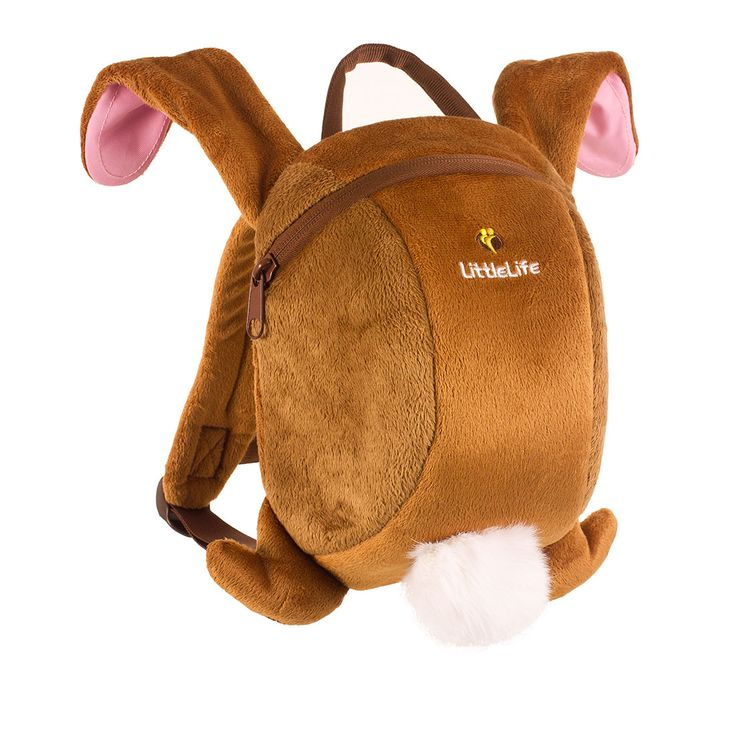 The adjustable straps and removable rein make this Rabbit Backpack great for little adventurers who love bunnies!