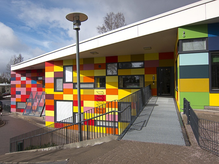 Tuomarila Day Care Center     Located in Tuomarila, Finland     Completed in 2008 by Auer & Sandås Architects     Photo by Jennifer Wong     April 2012.