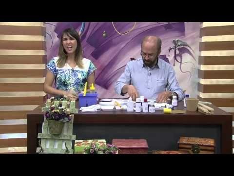 CW Artesanato - Carlos Saad - Mulher.com - Rede Século XXI - Cabideiro com arranjo floral - YouTube