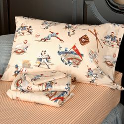 Vintage Baseball Sheet Set Kids Decor Pinterest