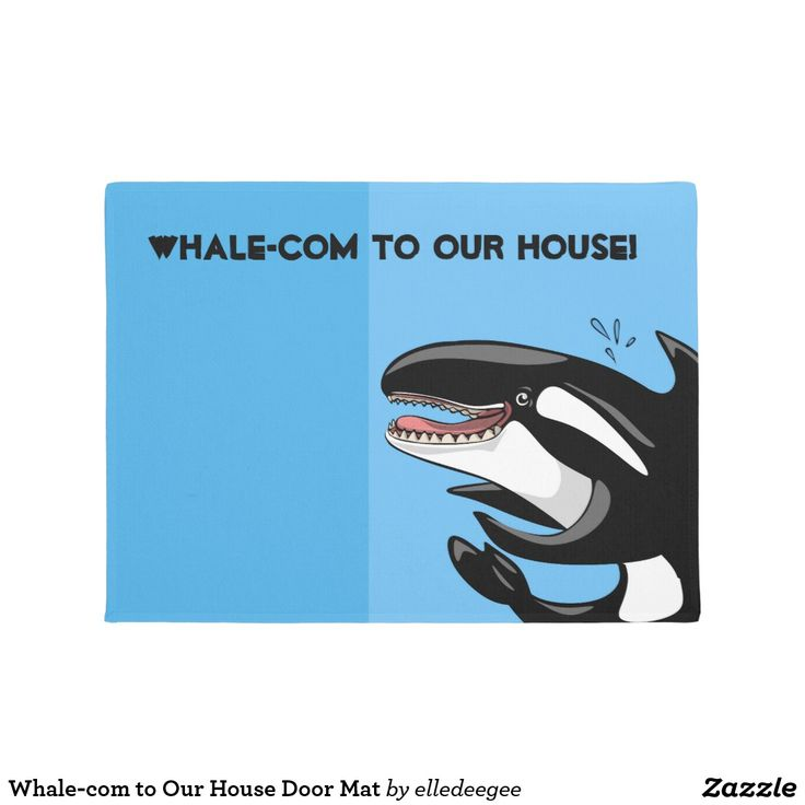 Whale-com to Our House Door Mat