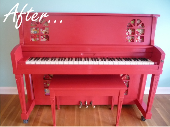 Before after a colorful painted piano makeover house for Classic house piano