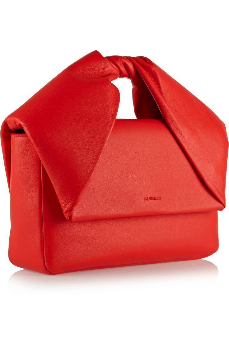J.W.Anderson|Twisted leather clutch|NET-A-PORTER.COM