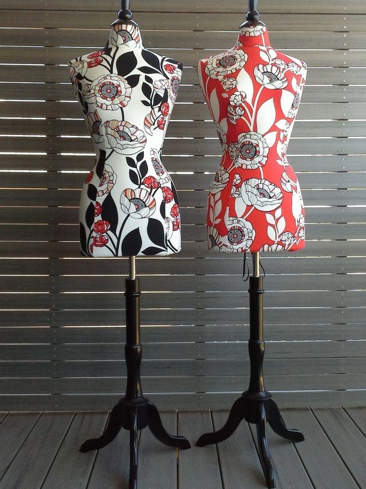 Miss Cream Poppy & Miss Red Poppy Mannequins