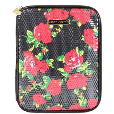 Betsey Johnson Ipad Case - Black Floral,$29.99