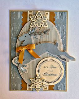 Shemaine Smith: Anna Griffin Winter Wonderland Cricut Cartridge Creations. Beautiful Christmas cards shown.