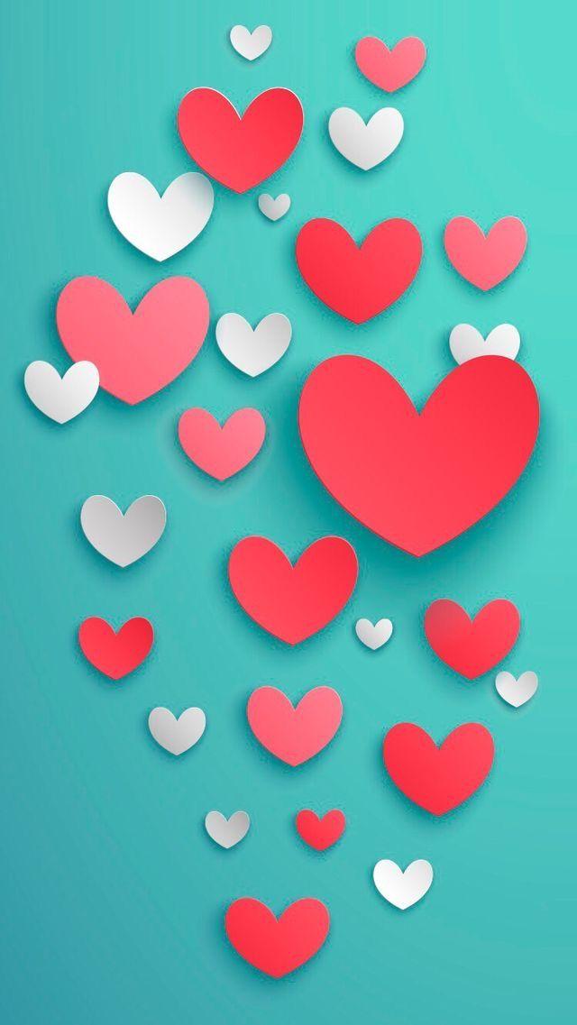 Wallpaper iPhone hearts