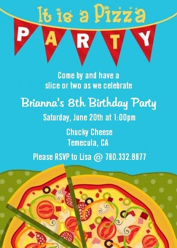 30 best pizza party images on pinterest | birthday party ideas, Party invitations