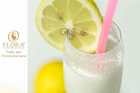 Sorbetto al limone al profumo di cannella