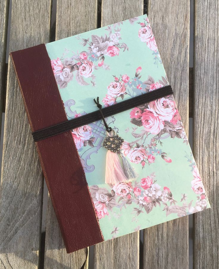 Art Journal - Green with roses - Petronella Design