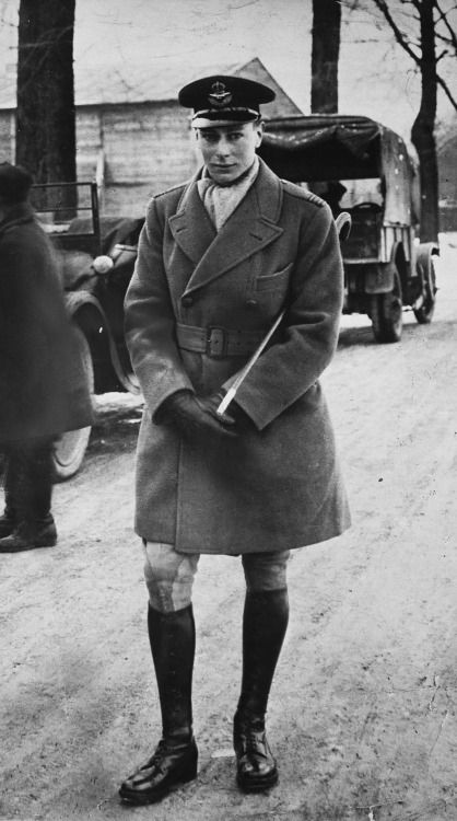 Prince Albert of the U.K. (future King George VI) in Royal Naval Air Service uniform; April, 1918. ""