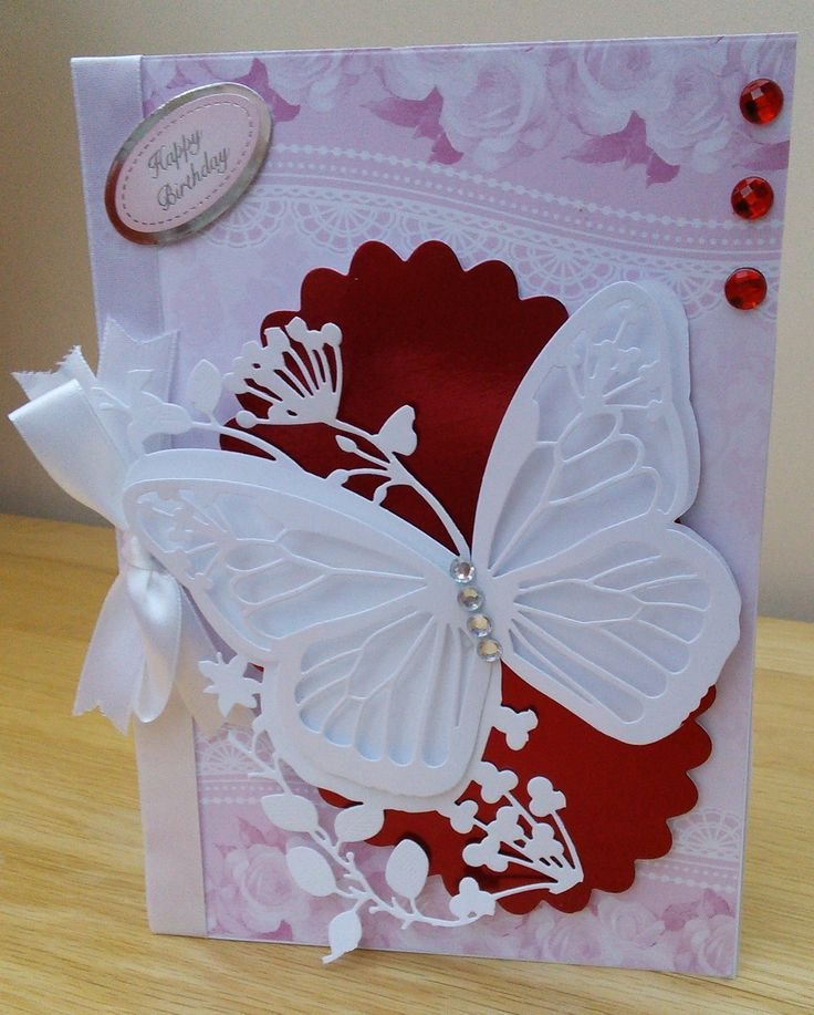 birthday card using couture dies