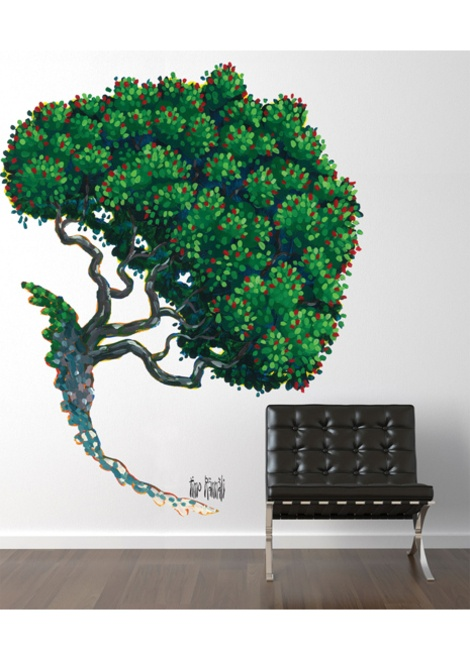 pohutakawa tree by timo rannali (vinyl wall decal)  .......... I wonder if he makes one in flower .....