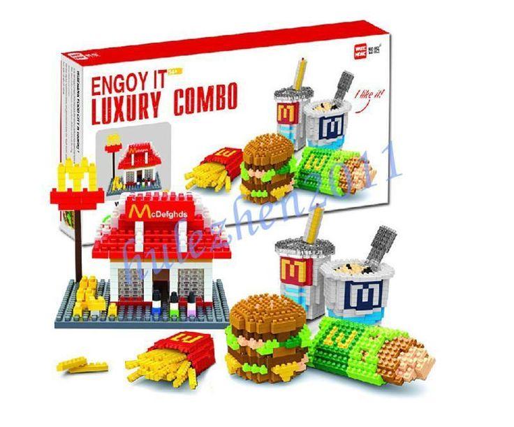 McDonald's FOOD ICONS x Nanoblock Lot Building Blocks Set of 6 PCS Toys NEW #Unbranded