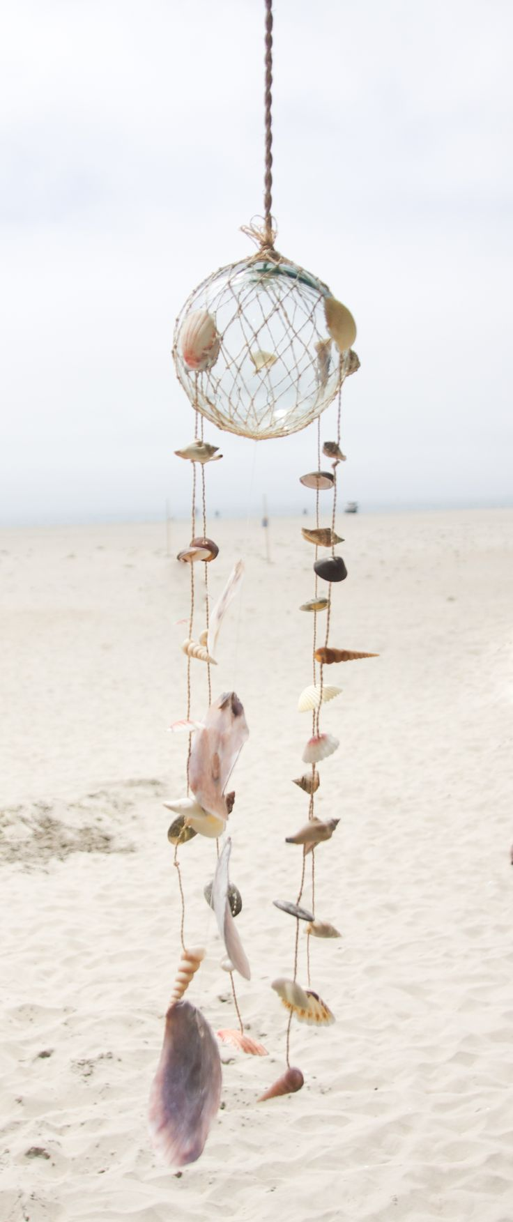 272 best dreamcatchers images on pinterest catcher for Shell wind chimes diy