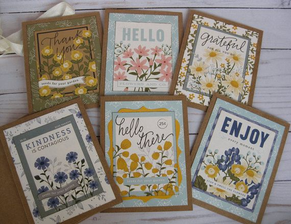Garden Flower Note Cards Boxed Stationary Set Of 6 Birthday Etsy Note Cards Greeting Cards Handmade Assorted Greeting Cards