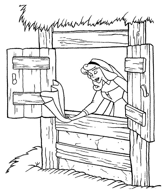 coloring page sleeping beauty coloring pages 14