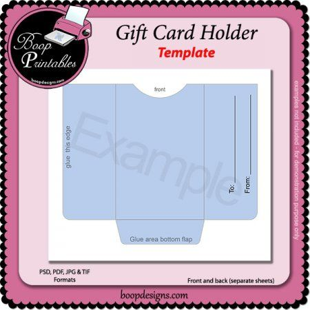 Gallery Of Stin Up Gift Card Holder Template