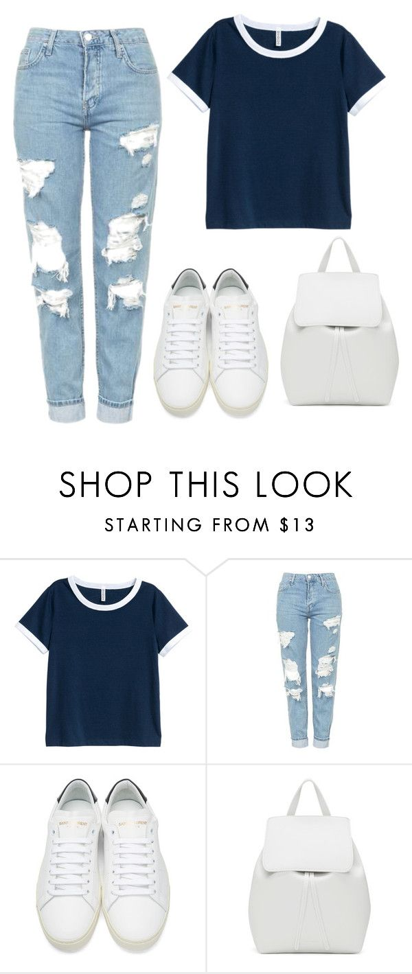 """Untitled #691"" by andrea-499 ❤ liked on Polyvore featuring H&M, Topshop, Yves Saint Laurent and Mansur Gavriel"