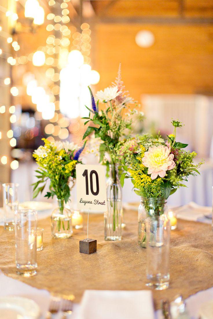 Barn wedding table settings   best barn weddings images on Pinterest  Country weddings