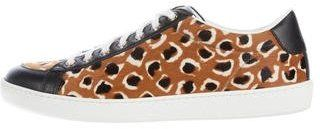 Gucci Ponyhair Leopard Print Sneakers