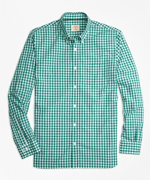 BROOKS BROTHERS Red Fleece コットンブロード ギンガムチェック カジュアルシャツ 【洗濯機使用可】