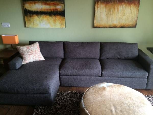 Chaise Sofa Room u Board Harding Sofa w chaise Interiors Capitol Hill Loft Pinterest Lofts Interiors and Room