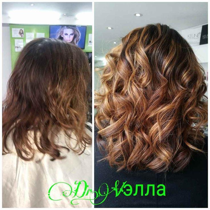 Так как в Японии женщины в определенном возрасте перестают краситься в блонд, приезжая в Россию, идут на эксперименты. Благодаря #bondfusion волосы абсолютно не повреждены ..  .  .  .  #окрашивание #шатушмосква #шатуш #keune #keune5d #drvella #dr_vella #hair #モスクワ美容室 #ヘアカラー #カラー
