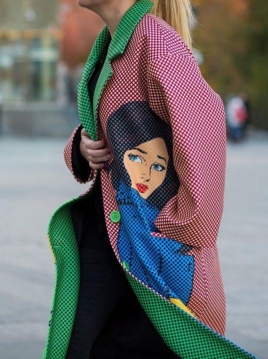 Pop Art jacket on the street, Russia