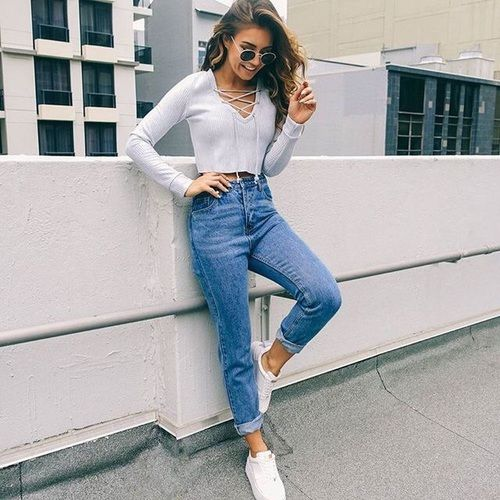 Imagem de fashion, girl, and jeans